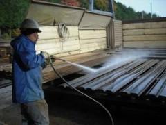 軽量鋼矢板 強力洗浄